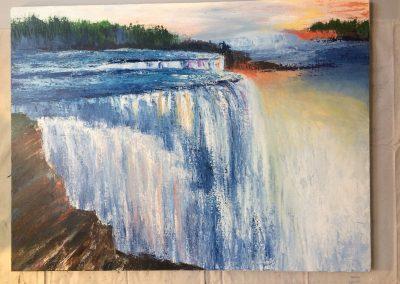 Niagara Falls Acrylic gallery wrapped canvas
