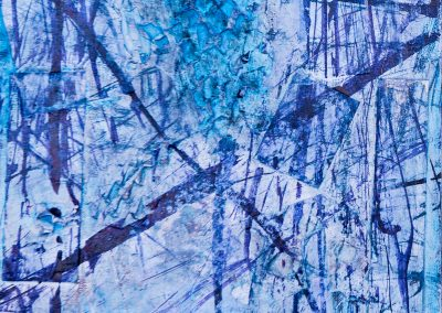 """Winter 1 8""""x8"""" Mixed media on gallery wrapped canvas"""