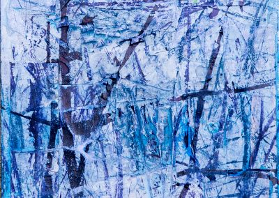 """Winter 2 8""""x8"""" Mixed media on gallery wrapped canvas"""